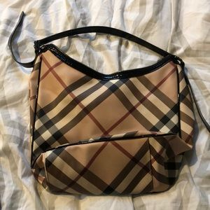 Burberry Hobo Bag with Felt Bag